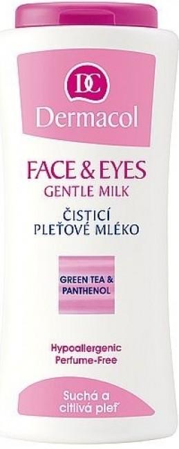 Dermacol Face & Eyes Gentle Milk čisticí pleťové mléko pro suchou a citlivou pleť