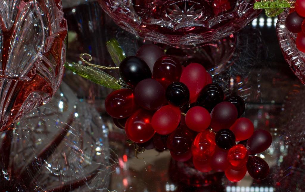 Křišťálový hrozen červený - velikost 5 - 2v1