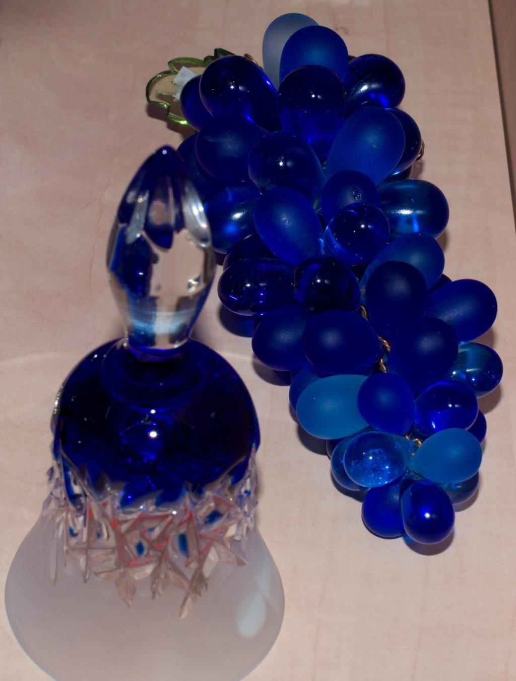 Křišťálový hrozen modrý - velikost 7 - baculatý