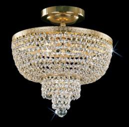Křišťálový lustr CB 0757 - 00 003 Brass