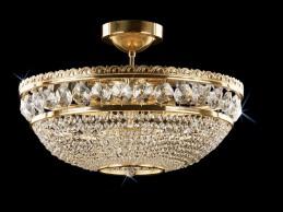 Křišťálový lustr CB 0524 - 00 009 Brass