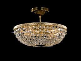 Křišťálový lustr CB 0991 - 04 004 Brass