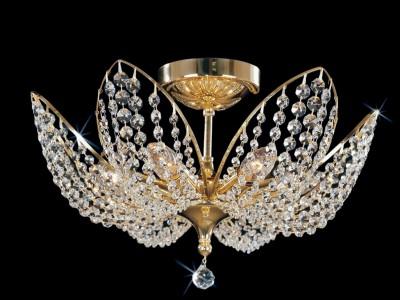 Křišťálový lustr CB 0915 - 00 006 Brass