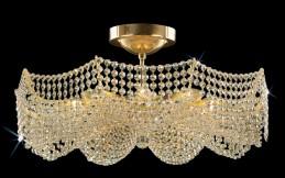 Křišťálový lustr CB 0721 - 00 009 Brass