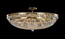 Křišťálový lustr CB 0524 - 00 012 Brass