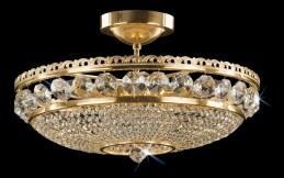Křišťálový lustr CB 0524 - 00 006 Brass